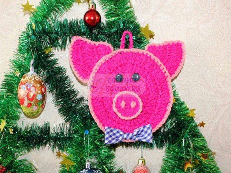 Красивые поделки на Новый год 2019. 100 идей с фото. Новогодние подарки 2019 своими руками. Как сделать свинку, кабана?