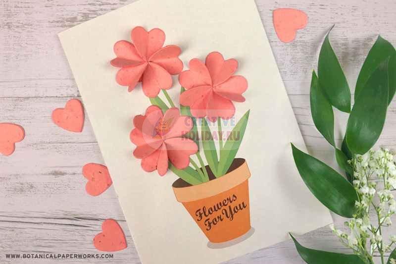 Анимации вход, открытки с цветами внутри своими руками видео